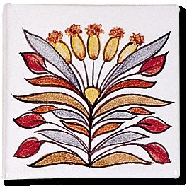 Carrelage - Décoration - Décor 11x11 Papyrus D- Design - Faïence de Provence à Salernes