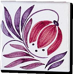 Carrelage - Décoration - Décor 11x11 Campanule - Design - Faïence de Provence à Salernes