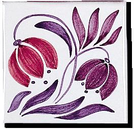 Carrelage - Décor 11x11 Campanule - Motif - Design - Faïence de Provence à Salernes