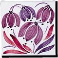 Carrelage - Décor 11 x 11 Campanule D - Motif - Design - Faïence de Provence à Salernes