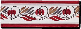 Carrelage - Frise 7,5 x 22 Campanule - Motif - Design - Faïence de Provence à Salernes
