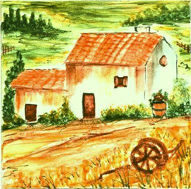 Carrelage - Décoration - Chèvre B - Motif - Design - Faïence de Provence à Salernes