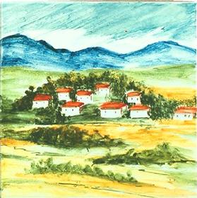 Carrelage - Chêvrerie - Motif - Design - Faïence de Provence à Salernes