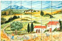 Carrelage - Décoration - La Chêvrerie - Fresque - Tableau - Faïence de Provence à Salernes