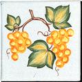 Carrelage - Décoration - Raisins - Motif - Design - Faïence de Provence à Salernes