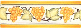 Carrelage - Décoration - Frise Raisins - Motif - Design - Faïence de Provence à Salernes