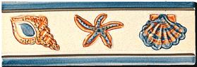 Carrelage - Décoration - Frise Coquillages - Motif - Design - Faïence de Provence à Salernes