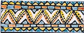 Carrelage - Décoration - Frise 5 x 13 Aztèque - Motif - Design - Faïence de Provence à Salernes