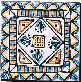 Carrelage - Décor 13x13 Aztèques - Motif - Design - Faïence de Provence à Salernes