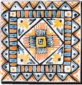 Carrelage - 13 x 13 Aztèque - Motif - Design - Faïence de Provence à Salernes