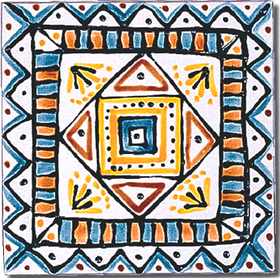 Carrelage - Décoration - Aztèques - Design - Faïence de Provence à Salernes