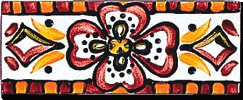 Carrelage - Décoration - Frise 5 x 13 touaregs- Motif - Design - Faïence de Provence à Salernes