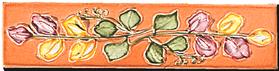 Carrelage - Décoration - Frise 5 x 22 Florale - Motif - Design - Faïence de Provence à Salernes