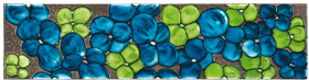 Carrelages - Décoration - Pétales - Lave Emaillée - Motif - Design - Salernes en Provence