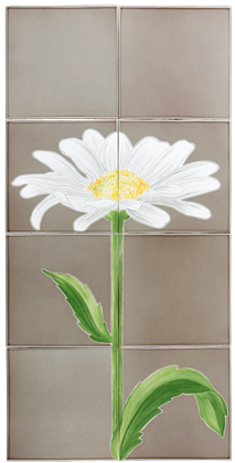 carrelages-decoration-Marguerite- Carrelage émaillée- motif - Design - Salernes
