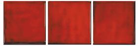 Carreau 11 x 11 - Rouge Vésuve- Faïence - Cuisine - Salle de Bains - Salernes en Provence